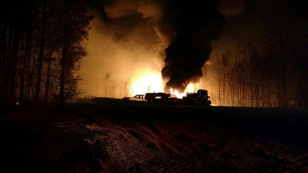 The scene of a Colonial Pipeline Co. explosion and fire in Alabama's rural Shelby County in