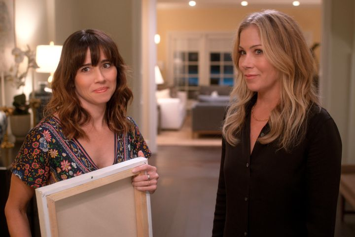 "Linda Cardellini and Christina Applegate in Netflix's ""Dead to Me."""