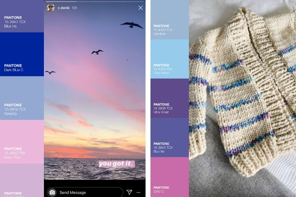 A senior editor used the Pantone app to figure out colors for her knitting project.