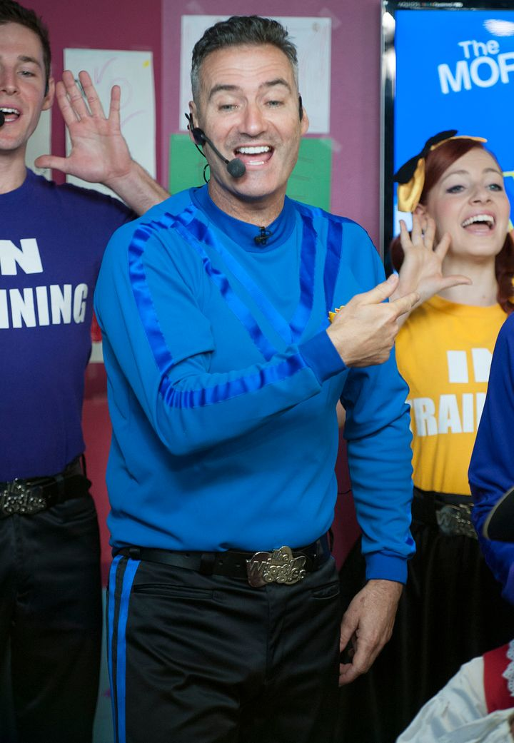 "Anthony Field of The Wiggles performing on Global Toronto's ""The Morning Show"" back in 2012."