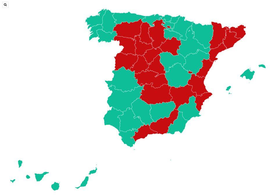 Mapa de fases - Provincias