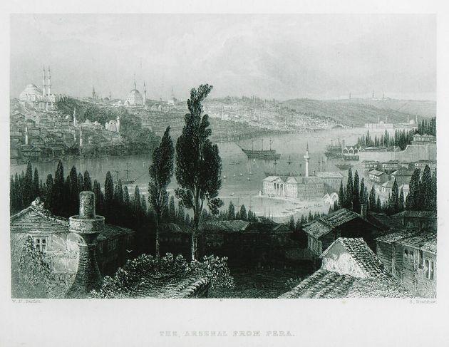 Περιοχή Aynalıkavak, ο αυτοκρατορικός ταρσανάς/ναυπηγείο Tersâne-i Âmire ( μέσα στον Κεράτιο Κόλπο