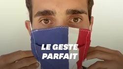 Comment bien mettre son masque? Martin Fourcade commenté par Julien Cazare vous
