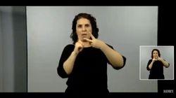 La intérprete de lengua de signos, protagonista por unos segundos en la comparecencia de Pedro