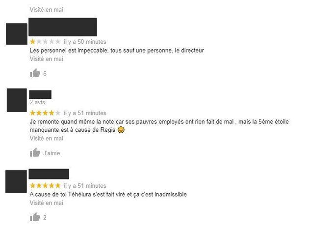 Des commentaires visant le magasin Go