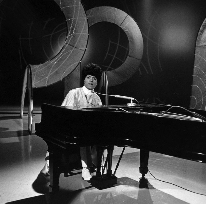 "Little Richard performs on ""This Is Tom Jones"" TV show around 1970 in Los Angeles."