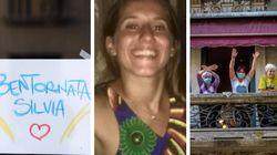 Silvia è libera e la gioia esplode: il suo quartiere tra canti sui balconi e campane a festa