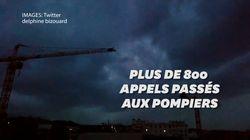 Les images du violent orage qui a traversé Paris ce