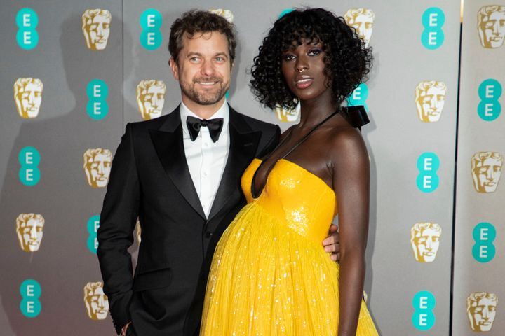 Joshua Jackson andJodie Turner-Smith are pictured at the BAFTA Film Awards in February 2020.