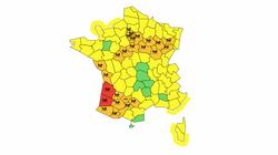 La Gironde et les Landes en vigilance rouge pluie et inondation, 26 départements en