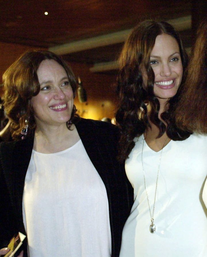 Angelina Jolie, right, and her mother Marcheline Bertrand, at a film premiere in Los Angeles in 2001.