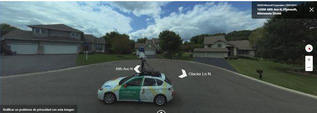 Coche de Google Maps desde