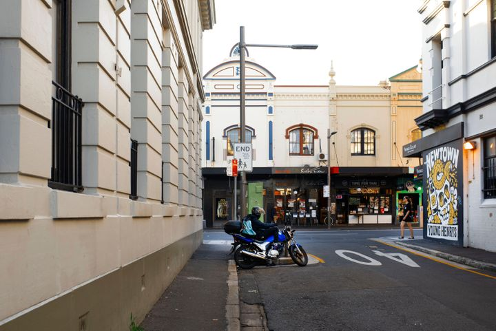The streets of Newtown in Inner West Sydney are desolate during the coronavirus outbreak, April 17, 2020. The suburb is usually known for its lively, alternative atmosphere with pubs, bars, shops and restaurants. (Photo by Christopher Pearce/The Sydney Morning Herald via Getty Images)