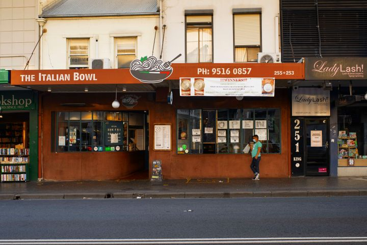 King Street Newtown will try to adapt to the state government's easing of restrictions on Friday. (Photo by Christopher Pearce/The Sydney Morning Herald via Getty Images)