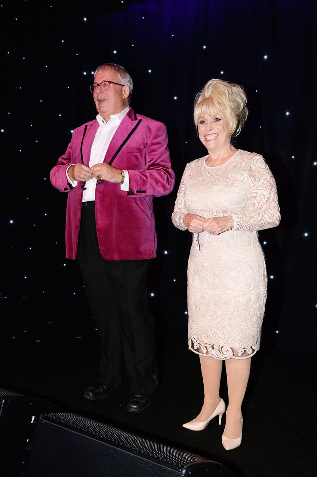 Biggins and Dame Barbara at an event in