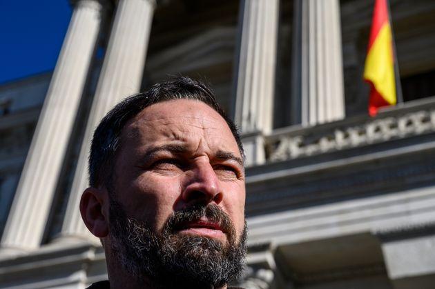 Santiago Abascal, líder de Vox, el 5 de febrero de 2020 en Madrid (Marcos del Mazo/LightRocket...