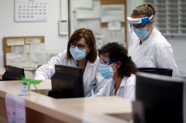 Personal sanitario del centro de salud de la calle de General Ricardos, en