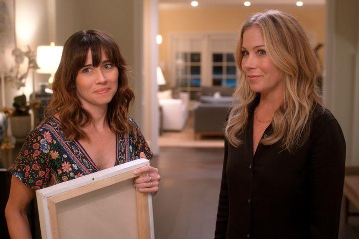 "Linda Cardellini and Christina Applegate in ""Dead to Me."""