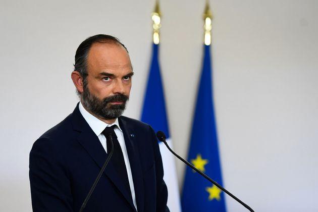Édouard Philippe présentant le plan de déconfinement le 7 mai à