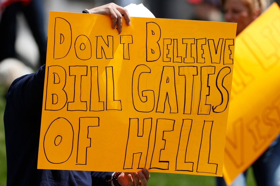 Bill Gates has been a frequent target of protesters opposed to stay-at-home orders and other restrictions...