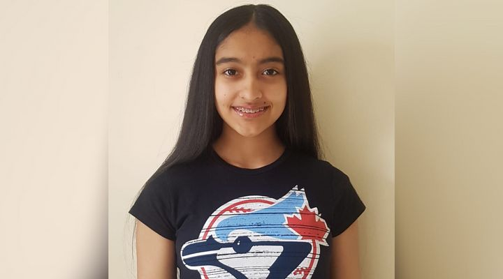 Kareena Persaud, 13, keeps on top of her school work from home, but misses asking questions in class and seeing her friends.