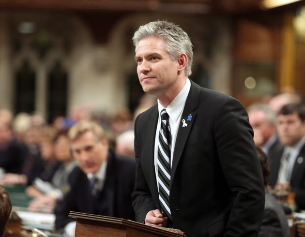 Conservative MP Mike Lake stands in the House of Commons on March 27
