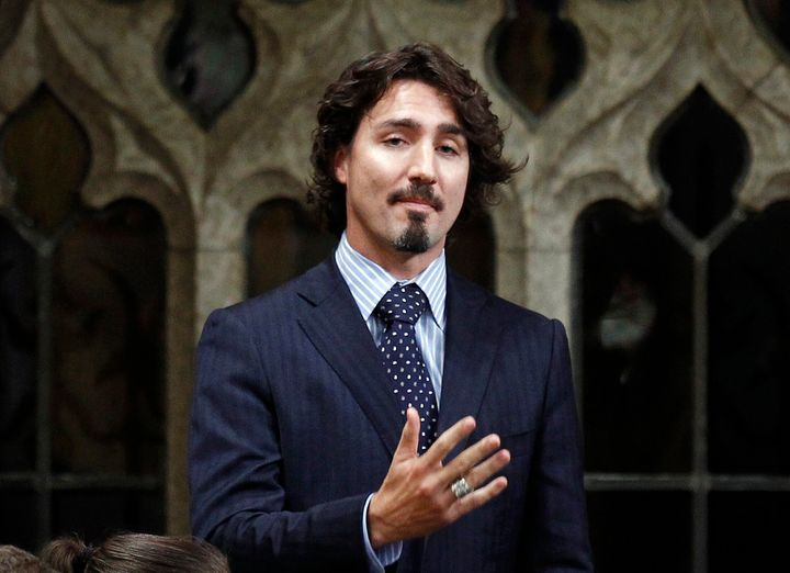 Justin Trudeau speaks following Question Period in the House of Commons on Parliament Hill in Ottawa on December 14, 2011.