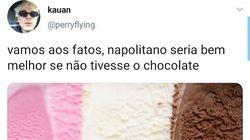 Este tuíte reviveu um antigo debate sobre o sorvete