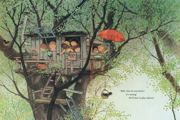 An illustration by Gyo Fujikawa, a before-her-time artist and writer who depicted children of all ethnicities playing as