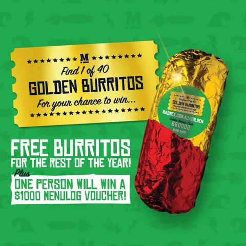 Mad Mex competition to win $1000 Menulog credit.