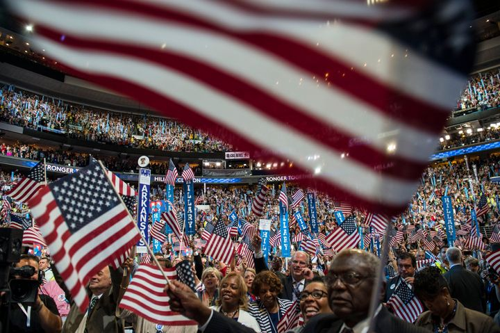 The Democratic National Convention usually brings tens of thousands of people together to choose the party's candidate, as se