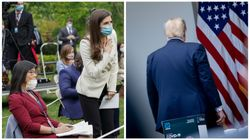 トランプ大統領、2人の女性記者の質問に怒って記者会見を突然中断。会場から立ち去る。
