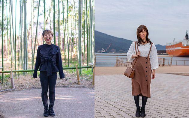 写真左から、やなめさんと中川祐子さん