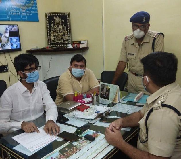 Chhattisgarh Youth Congress chief Koko Padi filing a complaint against BJP spokesperson Sambit Patra...