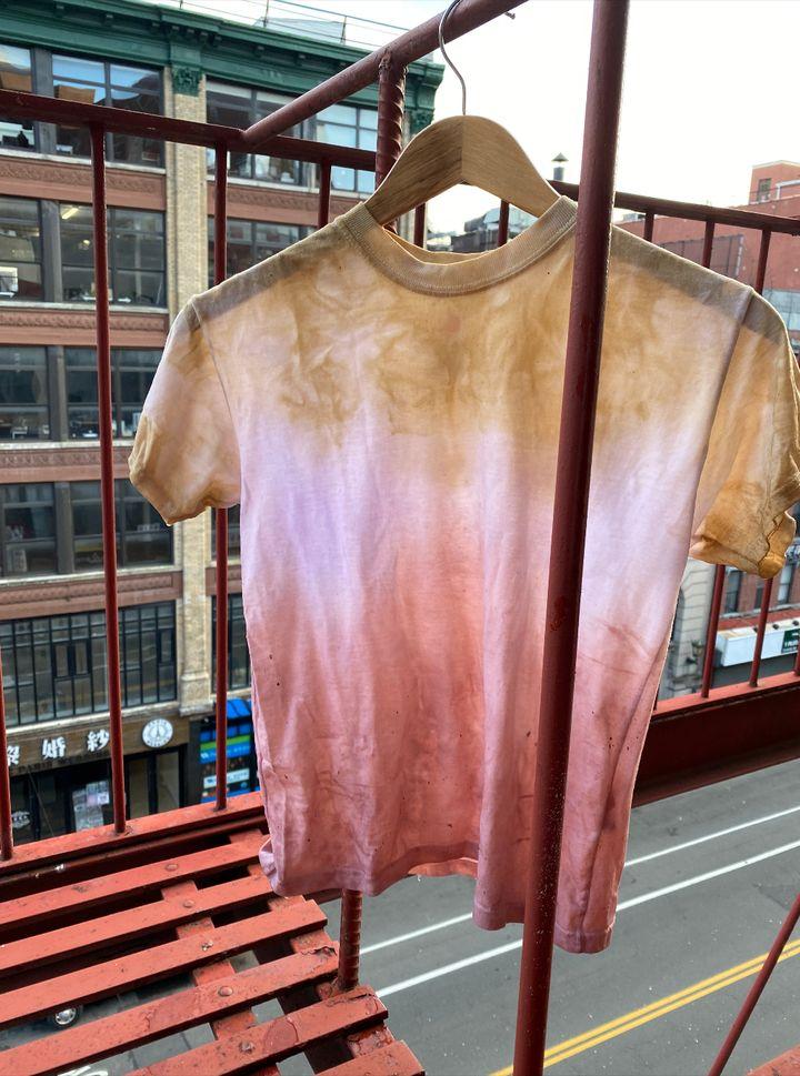 Natural tie-dye T-shirt