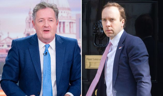 Piers Morgan Blasts Matt Hancock For Sneaking Back Onto ITV Now Hes On Holiday