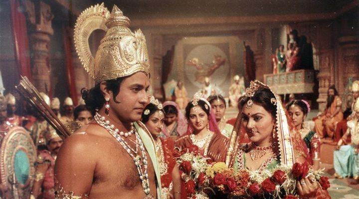 Arun Govil and Deepika Chikhalia in RAMAYAN. E