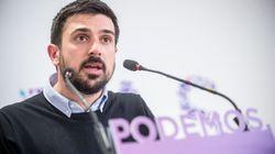 Ramón Espinar reacciona a una de las últimas noticias vinculadas a Unidas Podemos: