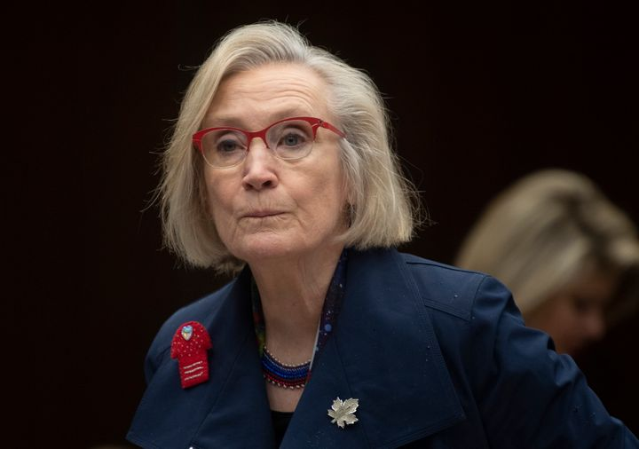 Crown-Indigenous Relations Minister Carolyn Bennett appears at a committee meeting in Ottawa on March 10, 2020. Bennett is facing calls to resign from elected leaders of First Nations who are calling a new agreement unacceptable.