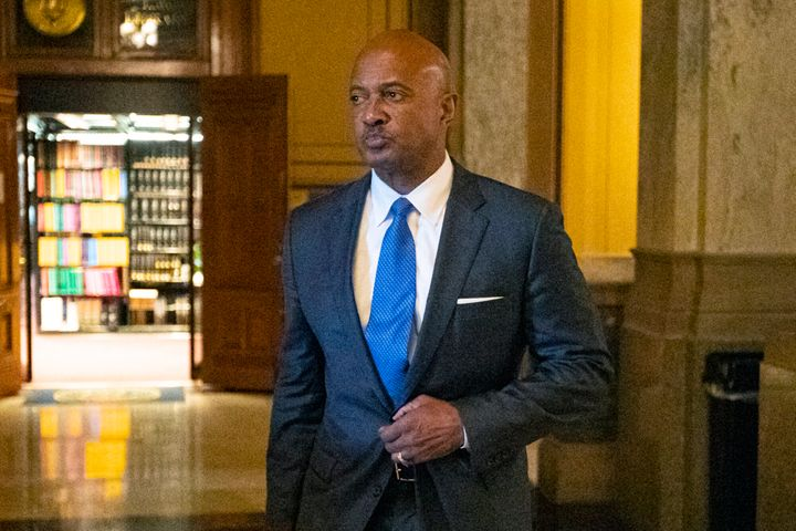 Indiana Attorney General Curtis Hill, seen in October, has had his law license suspended for 30 days after accused of drunken