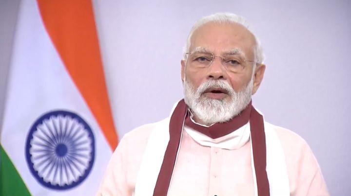 Narendra Modi addresses the nation on May 12, 2020.