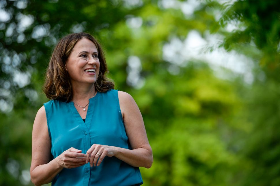 Theresa Greenfield is the odds-on front-runner in the Iowa Democratic primary, which will decide who takes on Sen. Joni Ernst