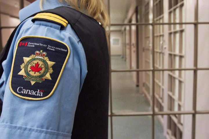 A correctional officer at the Collins Bay Institution in Kingston, Ont., on May 10, 2016.