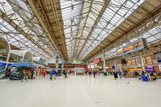 ロンドンのビクトリア駅 2020年3月17日撮影