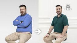 한 달 만에 14kg 감량에 성공한 샘 해밍턴의 모습