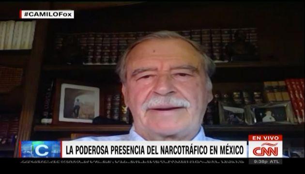 El expresidente Vicente Fox, entrevistado en la CNN en