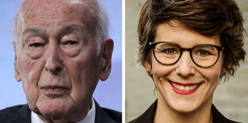 Capture Europe 1 / Le président Valéry Giscard d'Estaing et la journaliste Ann Kathrin