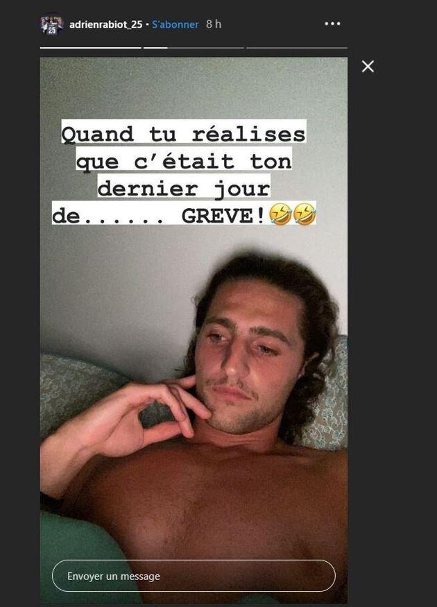 Sur Instagram, le milieu de terrain turinois Adrien Rabiot a ironisé sur
