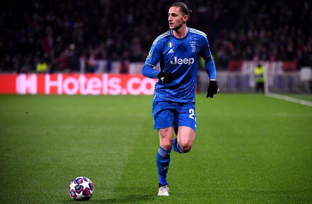 Adrien Rabiot lors du match OL-Juve au Groupama Stadium le 26 février