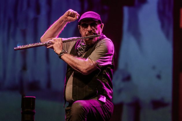 MADRID, SPAIN - FEBRUARY 29: Singer Ian Anderson is seen on stage with his band Jethro Tull on the Prog...